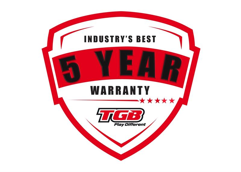 TGB 5-year warranty logo